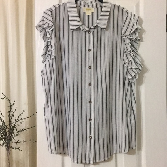Anthropologie Tops - Anthropologie Maeve black/white stripe top